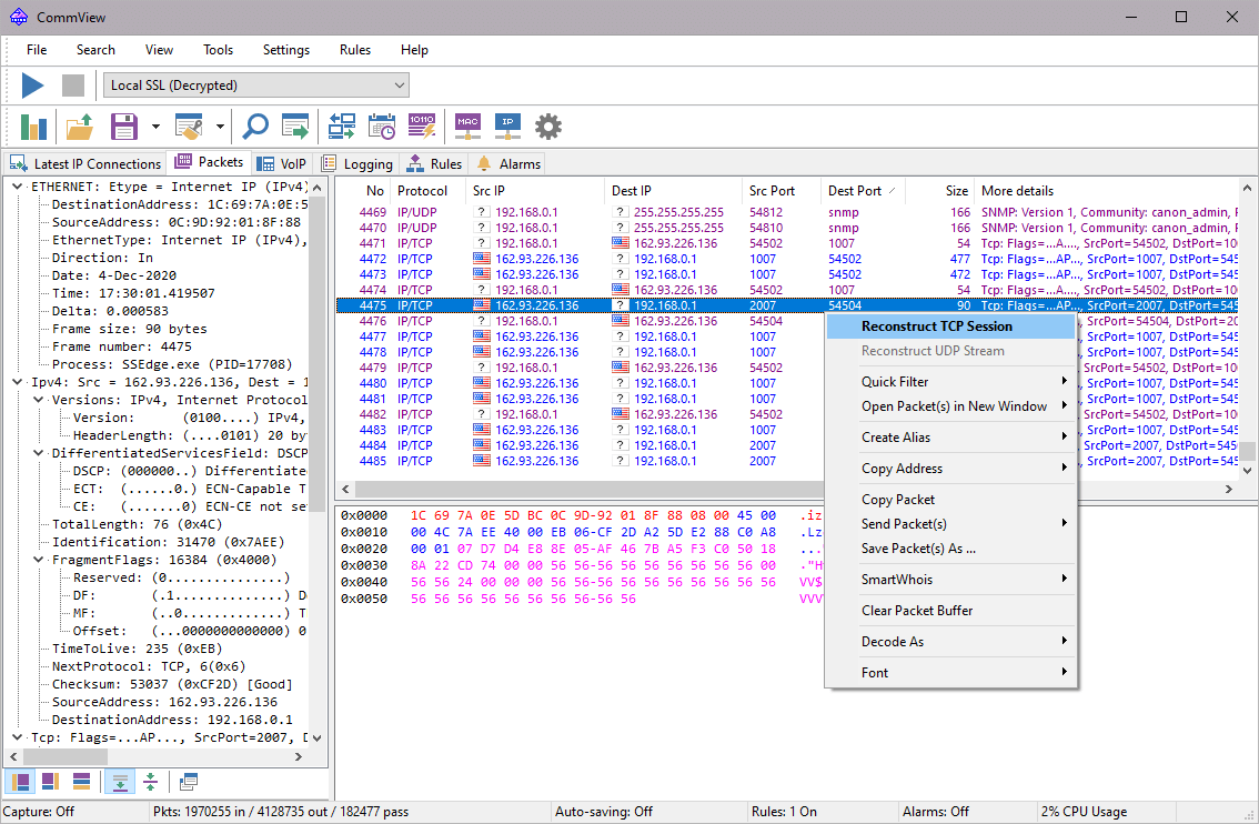 tamosoft commview for wifi