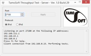 TamoSoft Throughput Test - Free WLAN Performance Meter