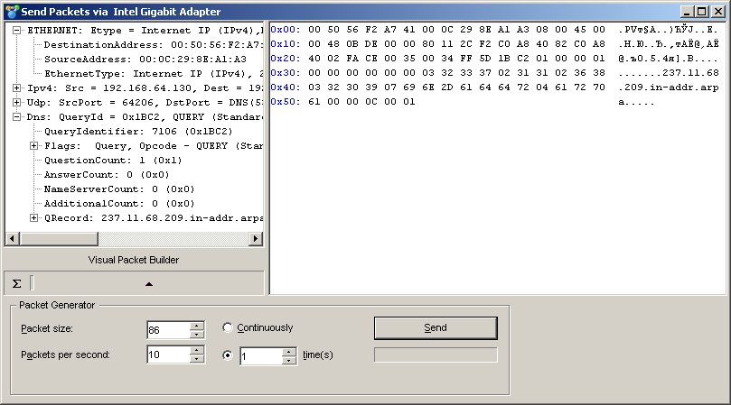 LAN Analyzer and Protocol Decoder - CommView - Packet Generator