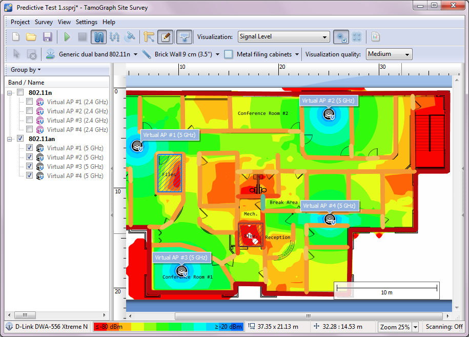 Site survey tool tamograph rf predictive modeling for Website planning tool