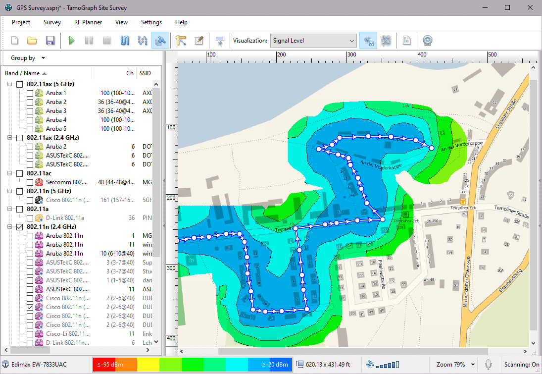 Wi-Fi GPS Mapping Software