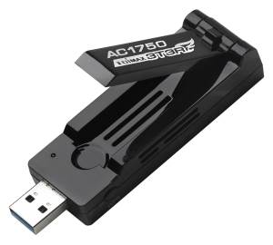 A compatible 2.4 and 5 GHz high quality USB Wi-Fi adapter