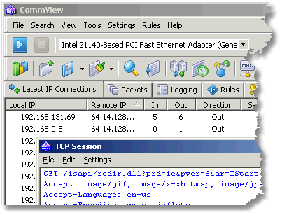 packet sniffer and protocol analyzer