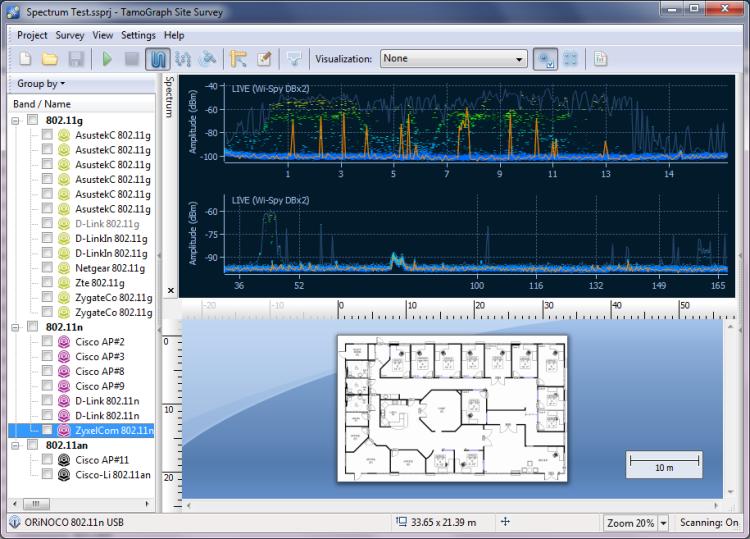 Spectrum Analysis in TamoGraph