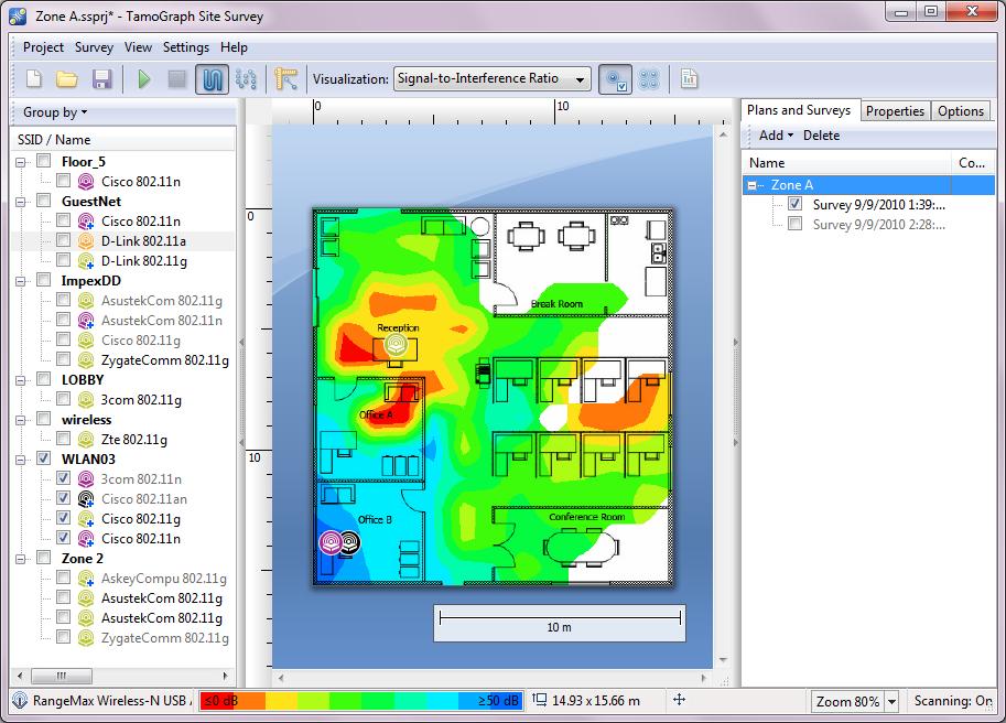 TamoGraph Site Survey screenshot